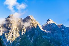 Snowy Rocky Andes Mountain, Patagonia, Chile Stock Photography