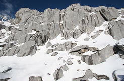 Snowy Rocky Mountain Royalty Free Stock Images