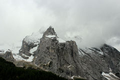 Snowy Rocky Mountains Dolomites - The Italian Alps Royalty Free Stock Images
