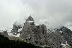 Snowy Rocky Mountains Dolomites - le alpi italiane Immagini Stock Libere da Diritti