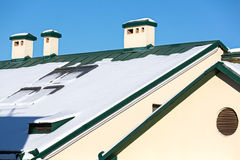 Snowy roof Royalty Free Stock Photo