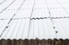 Snowy roof. Stock Photo
