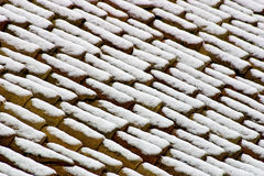 Snowy roofs Royalty Free Stock Photos