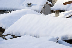 Snowy roofs Royalty Free Stock Image
