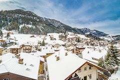 Free Snowy Roofs Of Alpine Village In Italy Royalty Free Stock Photos - 78025548