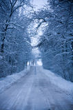 Snowy route Stock Images