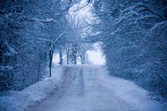 Snowy route Stock Photos