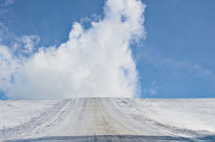 Snowy Rural Road Royalty Free Stock Photo