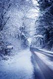 Snowy Rural Road Stock Image