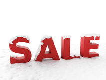 Snowy sale. Winter discount concept Royalty Free Stock Images