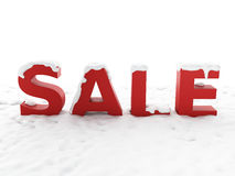 Snowy sale. Winter discount concept Stock Image
