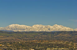 Snowy San Bernardino Mountains during Winter Royalty Free Stock Photo