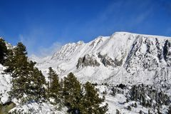 Snow-covered landscape and mountain peaks the winter High Tatras Slovakia stock image