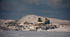 Snowy Scenes around Trearddur bay Stock Photography
