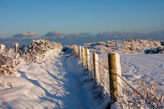 Snowy Scenes around Trearddur bay Royalty Free Stock Photo