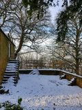 Snowy scenes at hardwick hall Royalty Free Stock Photography