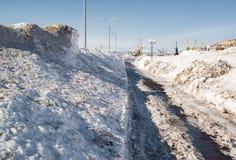 Snowy seafront of Petropavlovsk-Kamchatsky Stock Photo
