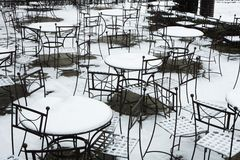 Snowy seating Royalty Free Stock Photos