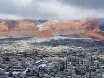 Snowy Sedona Fotografie Stock