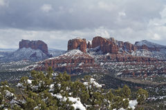 Snowy Sedona Landscape Stock Photography