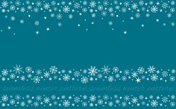 Free Snowy Set Of Winter Snowflakes Seamless Patterns Royalty Free Stock Photo - 161054005