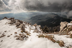 Snowy Sicily, Italy mountains Royalty Free Stock Image