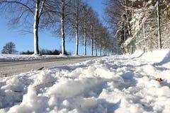 Snowy sidewalk Stock Image