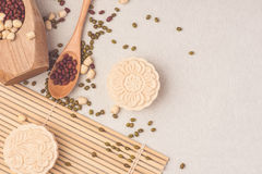 Snowy skin mooncakes. Chinese mid autumn festival traditional food Royalty Free Stock Photo