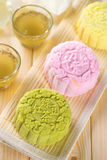 Snowy skin mooncakes Royalty Free Stock Image
