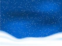 Snowy sky Stock Image