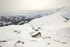 Alpine mountainscape in winter Stock Photo