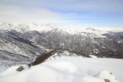 Alpine mountainscape in winter Stock Photos
