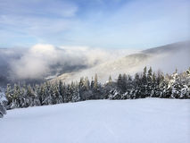 Snowy slope Royalty Free Stock Images