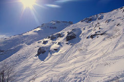 Snowy Slope for Off-piste. Stock Image