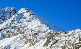 Snowy slopes of Rila in Bulgaria Stock Image