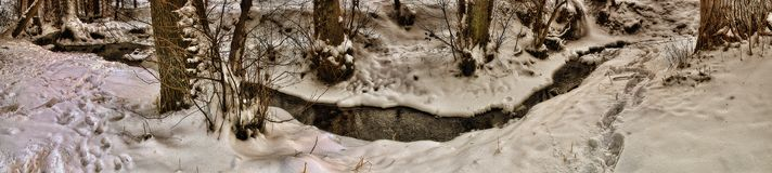 Snowy small Stream Royalty Free Stock Photography