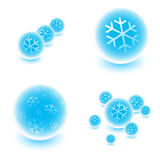 Snowy spheres Royalty Free Stock Photo