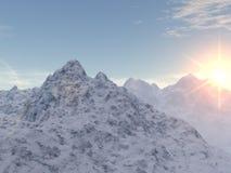 Snowy-Spitzen Stockfotos