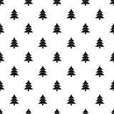 Snowy spruce pattern, simple style Royalty Free Stock Photography