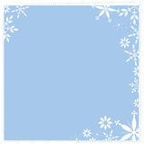 Snowy Square background. This winter artwork would make a great background, or use in photoshop as a photomask Royalty Free Stock Photography