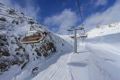 Snowy St Moritz Switzerland Stock Photo