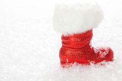Snowy St Nicholas Boot Royalty Free Stock Photos