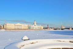 Snowy St. Petersburg Stock Photography