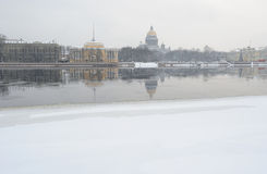 Snowy St. Petersburg in winter Stock Photo