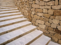 Snowy stairs Royalty Free Stock Image