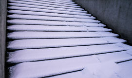 Snowy stairways Stock Images