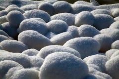Snowy-Steine Stockfotos