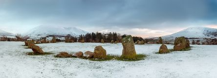 Free Snowy Stone Circle Royalty Free Stock Image - 140883166