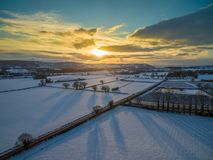 After snowy storm in UK royalty free stock image