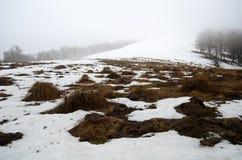 Snowy stormy mountains Royalty Free Stock Photos